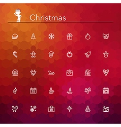 Christmas Line Icons vector image