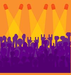 crowd in front of concert scene vector image