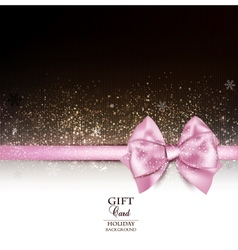 Elegant holiday background with pink bow and copy vector image vector image