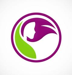hair salon beauty abstract logo vector image