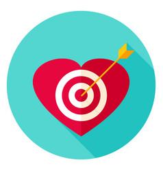 Heart target circle icon vector