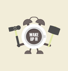 473coffee alarm clock vector