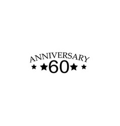 60 anniversary sign element of anniversary sign vector image