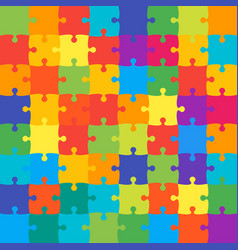 64 colorful background puzzle jigsaw banner vector