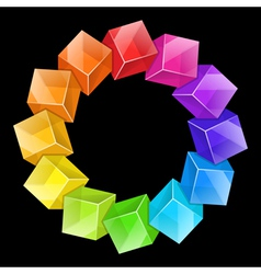 Abstract Cubes Frame vector image