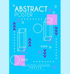abstract poster original design creative blue vector image