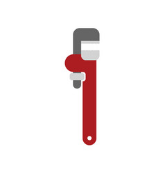 adjustable wrench isolated tool on white vector image