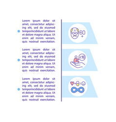 Age group for covid19 medication concept icon vector