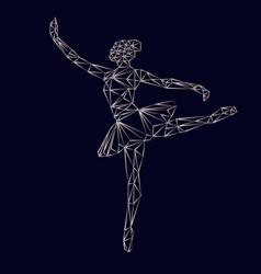 ballerina prima polygonal triangle papercut vector image