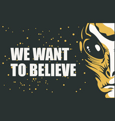 banner on theme alien invasion vector image