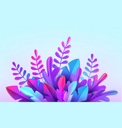 Bright stylish 3d foliage in style of vector