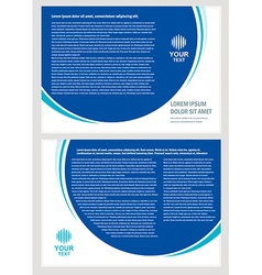 brochure folder simple design cmyk vector image