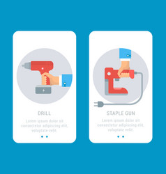 Building tools cards vector