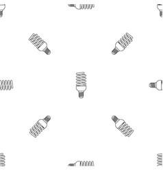 bulb energy saving pattern seamless vector image