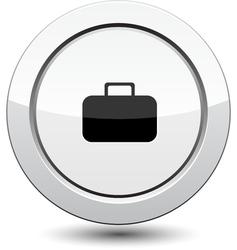 Button with portfolio icon vector
