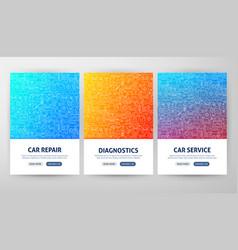 car service flyer concepts vector image