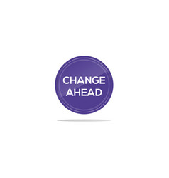 Change ahead hiring text in blue circle vector