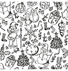 Christmas set of hand-drawn vector image