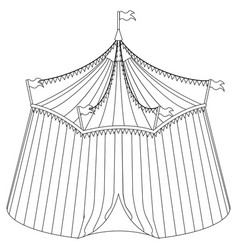 Circus tent for coloring book vector