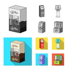 Coffee machine atm information terminal vector