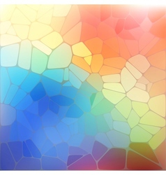 Colorful background with rainbow geometric mosaic vector image