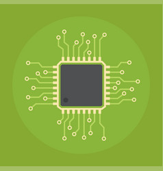 Computer chip icon vector