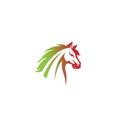 creative gradien horse head logo vector image