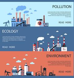 digital blue factory pollution vector image