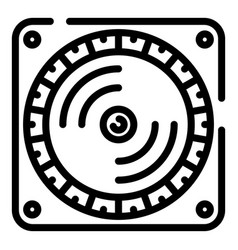 dj player icon outline style vector image