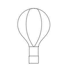 Dotted shape air balloon fly in the sky vector
