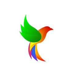 eagle colorful design template vector image