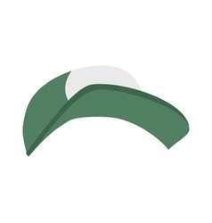 Fashion sport cap cartoon flat vector image