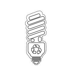 Figure bulb energy saver icon vector