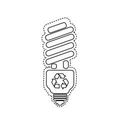 figure bulb energy saver icon vector image