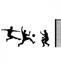 goalmouth action vector image