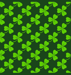 green clover diagonal seamless pattern vector image