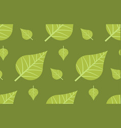 green leaves background seamless pattern vector image