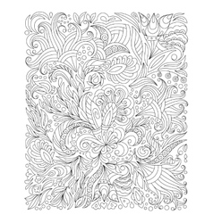 hand drawn flower coloring page vector image
