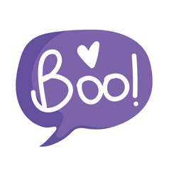 happy halloween boo speech bubble trick or treat vector image