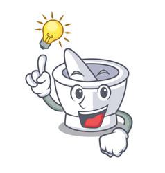 Have an idea mortar mascot cartoon style vector