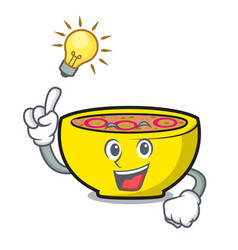 Have an idea soup union mascot cartoon vector