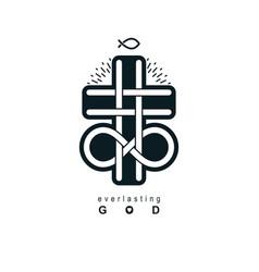 immortal god christian love conceptual logo vector image