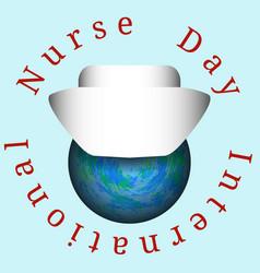 International nurses day nurses cap dressed on vector