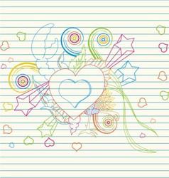 love festive banner vector image