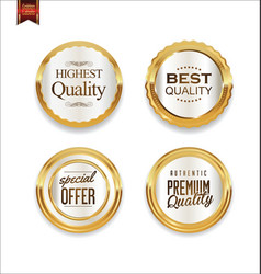Luxury sale golden labels collection 1 vector