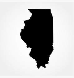 Map us state illinois vector