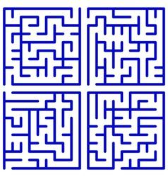 Maze set vector image