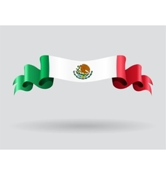 Mexican wavy flag vector image