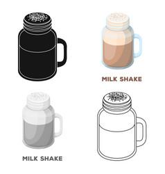 Milk shakedifferent types of coffee single icon vector