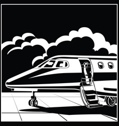 modern business jet vector image